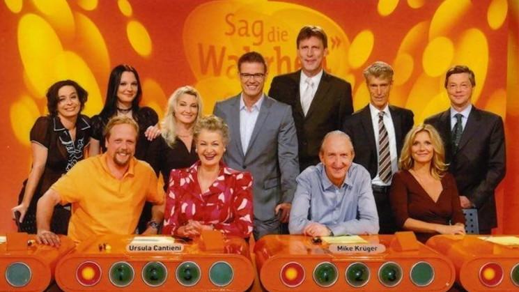 """ZZehenleserin Ellen Ruschmann in der Fernsehsendung """"Sag die Wahrheit"""""""