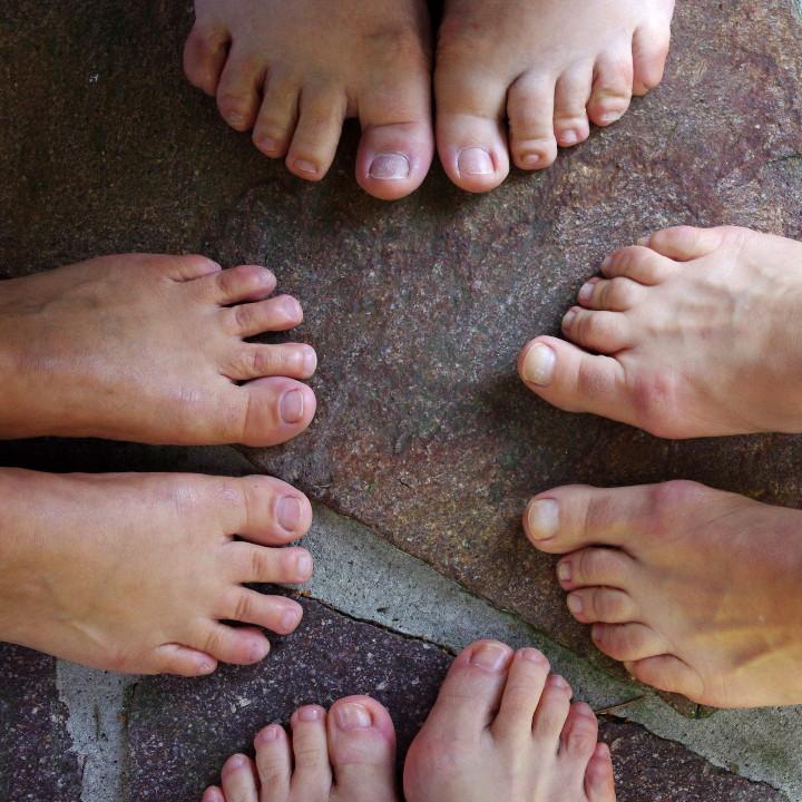 Zehenanalyse der Füße